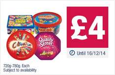 Celebrations/Quality Street/Swizzells Sweet Shop Favourites/ Haribo Share the Fun £4 Each @ Co-Op (Tins/Tubs)