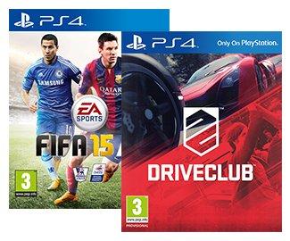 FIFA 15 (PS4) & Driveclub (PS4) - £40.00 @ Rakuten (ShopTo)