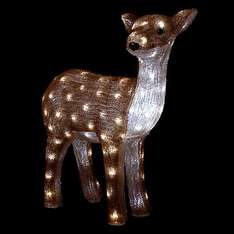 John Lewis 60cm Acrylic Reindeer Light, Brown/White £47.50