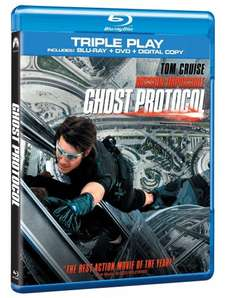 Mission Impossible: Ghost Protocol - Triple Play (Blu-ray + DVD + Digital Copy) £2.29 (free delivery £10 spend/prime) @ MediaMine Fulfilled by Amazon