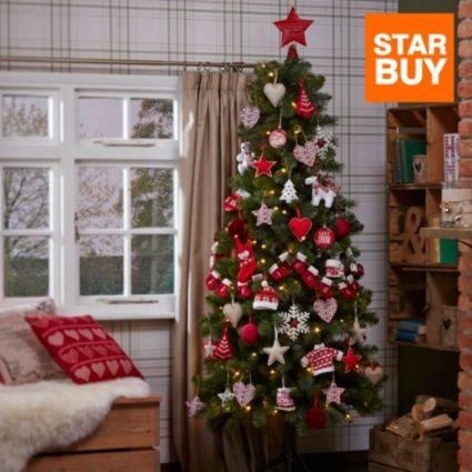 6.6 Foot Pre-Lit Christmas Tree - £37 B&Q