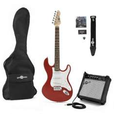 LA Electric Guitar + Amp Pack, Red @Gear4Music £89.99 RRP £120.00