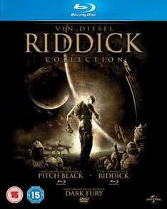The Riddick collection BLU-RAY (2) + DVD (1)  £6.30 (prime/free delivery £10+) @ amazon