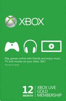 xbox live membership gold 12 months  29.97 for 5 hours only!