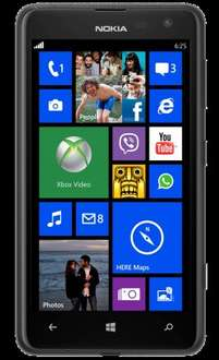 Nearly New Nokia Lumia 625 - 24 Month contract 300 min, 600MB, Unlimited text - equivalent to £6.56/month @ TalkTalk Mobile