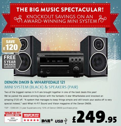 DENON DM39 Black & Wharfedale DIAMOND 121 Black - £249.95 Richer Sounds
