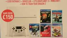 Ps4 bundle ps4 White + 4 games, 1 movie. Only £399.99! Whilst stocks last! @ Game