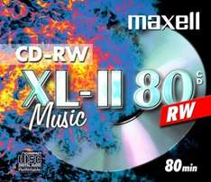 Amazon Maxell CD-RW 80 Storage Media (Music 80 minutes) - Single disc in jewel case 1p @ Amazon/DiscountDiscs. FREE DELIVERY