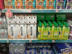 Lucozade Revive Orange and Lucozade Sport Guava both 4pk for £1 @ Poundland