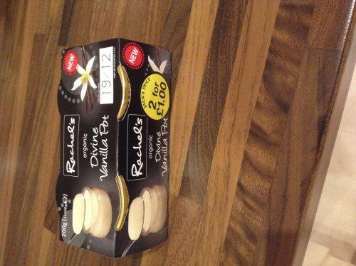 Rachel's organic vanilla pot (2pack) 2 for £1.00 @ Fultons Foods
