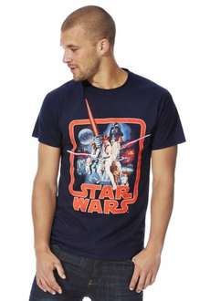 Star Wars Classic Poster T-Shirt mens £5 at tesco clothing click n collect