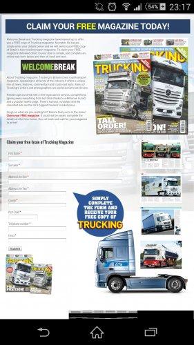 Claim your FREE magazine trucking