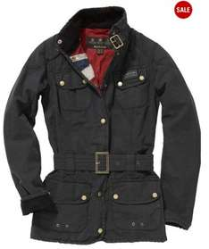 Barbour International Vintage Wax Jacket  Black size 10 £134.50 @ Smithandmorris
