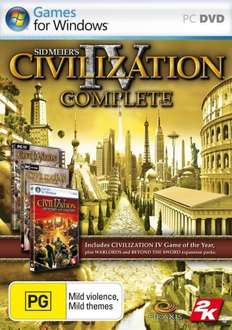 Sid Meier's Civilization IV: Complete PC DVD £3.99 @ GAME Delivered + 5% Quidco cashback if pay with Paypal (game activates on Steam)