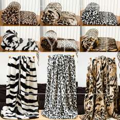 Faux Fur Mink Animal Skins Throw in Large & X-Large Size £15.99 @ eBay / Rynz Collections