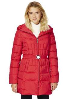 F&F Down Filled Long Line Padded Jacket £15 @ F&F clothing 70% off