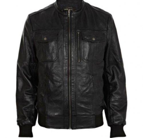 Mens leather jacket £40 @ riverisland