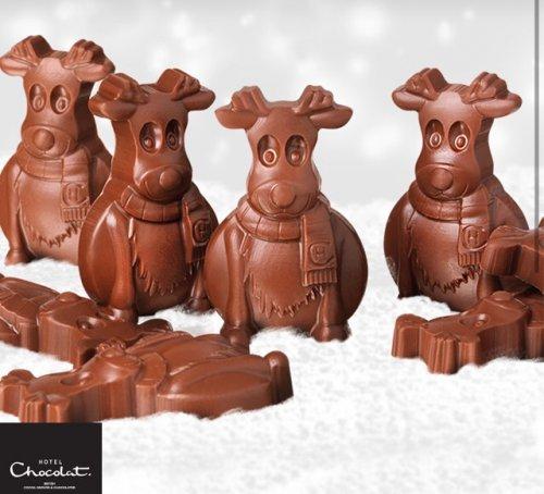 FREE Pack of 4 Chocolate Reindeers @ Hotel Chocolat (via O2 app)