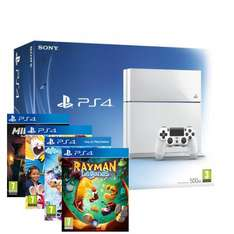 Playstation 4 Console (White) With Minecraft, Rabbids Invasion, LittleBigPlanet 3 & Rayman Legends £349.99 Delivered @ Shopto Via eBay