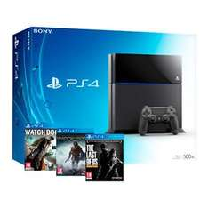 PS4 Console with Watch Dogs, Shadow of Mordor & Last of Us Remastered - £349.99 @ Shopto via eBay