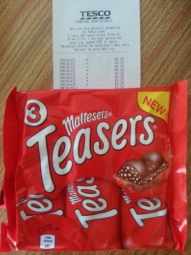 Maltesers Teasers Chocolate Bar 35g x 3 at Tesco