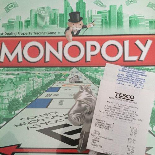 Monopoly scanning at £10 at Tesco