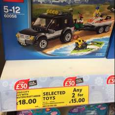 Lego City 60058, SUV with watercraft, £18 each or two for £15 @ Tesco