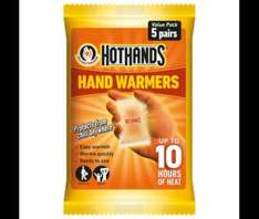 Hot Hands Hand Warmers Value Pack, 5 Pairs £3.00 ,free click&collect @ Tesco