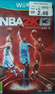 NBA 2K13 (Wii U) - £2.49 @ Toys R Us (In-Store Only)