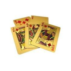 Deck of Gold Playing Cards £3.96 (with UK £50 design) inc. FREE p&p @ Amazon sold by bargain busting