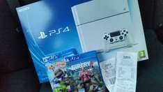 PS4 White 500gb with 2 games.... £349 (£329 with voucher instore) @ Tesco