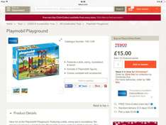 Playmobil City Life playground for £15 at Tesco online