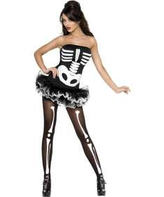 Sexy Skeleton Costume  - Extra Small - Add-on item - £2.85 & FREE Delivery on orders over £10