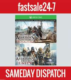 Assassin's Creed Unity & Black Flag (Xbox One Digital DL) £29.99 @ Fastsale 24-7 Via eBay