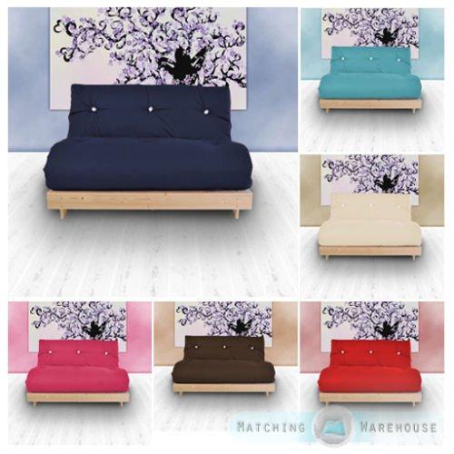 Double 2 Seater Complete Futon Luxury Cotton Twill Mattress Sofabed £89.99 @ matchingwarehouse / ebay