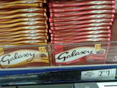 Galaxy Chocolate 114g Honeycombe Crisp, & Galaxy Chocolate Nut Crunch 114g at 2 x 114g for £1 at FarmFoods