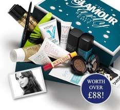 13 beauty products (worth £88) with Glamour ipad/iphone subscription for £16.99+ P&P  £3.95