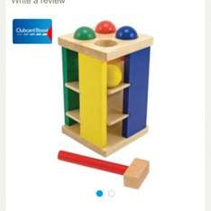 Melissa and Doug multicoloured pound roll tower £5.71 free click and collect @ Tesco Direct