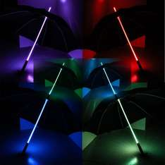 Rainbow LED Multi Colour Changing Umbrella with LED Torch in Handle at 7dayshop £12.99