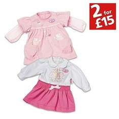 Baby Annabell Twin Fashion Outfit Pack. £6.59 (argos)