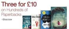 3 Paperback Books for £10 @ Amazon (including best sellers such as Gone Girl. A Fault In Our Stars. The Maze Runner) Free Delivery