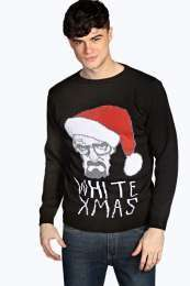 Heisenberg White Xmas christmas jumper @ Boohoo.com for £8.00