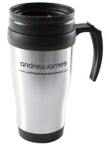 Andrew James Stainless Steel Travel Mugs 2 for £4.50 was £14.95 or 1 for £2.50 £2.99 shipping Amazon