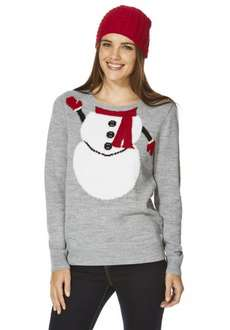 Snowman Christmas Jumper with hat half price Tesco Click and Collect £10!!