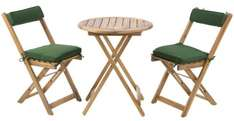 Wooden Bistro Set Table and 2 Chairs was £79.98 now £29.99 delivered at Ebuyer