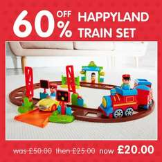 Happyland train set was £60 NOW £20 at ELC