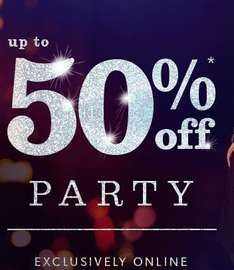 up to 50% off party wear at new look