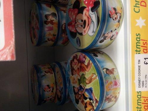 Disney Cookie Tins £1 @ Poundstrecher