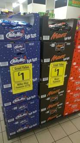 Mars , Milky Way & Maltesers Funsize  £1 @ Farmfoods