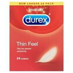 Durex Thin Feel Condoms 24 pack inc. delivery £12.99 @ Superdrug